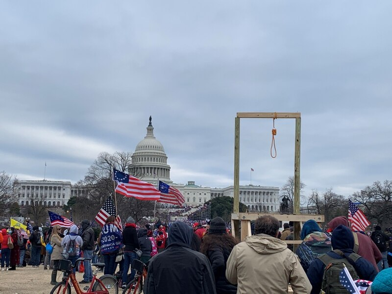 Gallows built by Insurrectionists at the Capitol,  Jan 06, 2021
